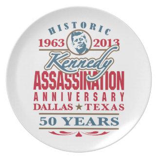 Aniversario 1963 - 2013 del asesinato de JFK Kenne Plato De Comida
