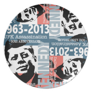 Aniversario 1963 - 2013 del asesinato de JFK Kenne Platos De Comidas