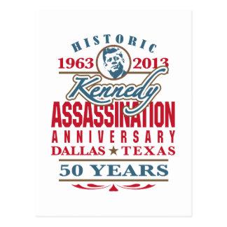 Aniversario 1963 - 2013 del asesinato de JFK Kenne Tarjeta Postal