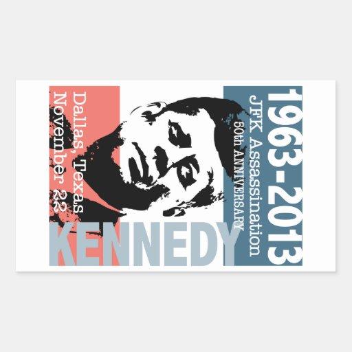 Aniversario 1963 - 2013 del asesinato de JFK Pegatina Rectangular