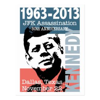 Aniversario 1963 - 2013 del asesinato de JFK Tarjeta Postal