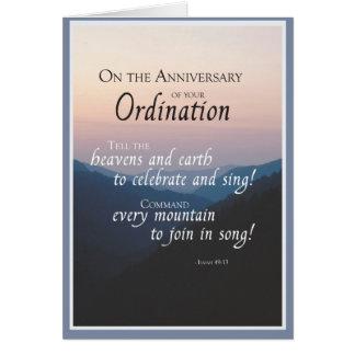 Aniversario 2687 de la ordenación tarjetas