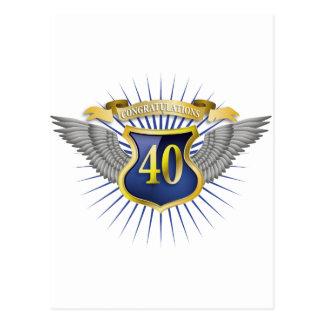 Aniversario 40 tarjeta postal