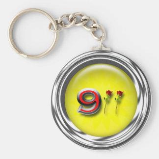 Aniversario 911 llavero redondo tipo pin