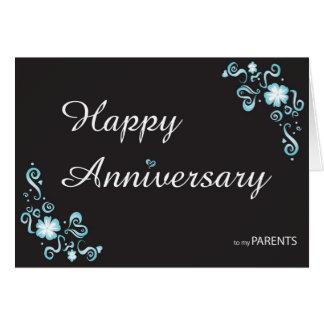 Aniversario a mi tarjeta de felicitación del padre