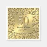 Aniversario adornado del marco 50.o del oro
