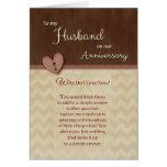¿Aniversario al marido - por qué haga te amo? Tarjeta De Felicitación
