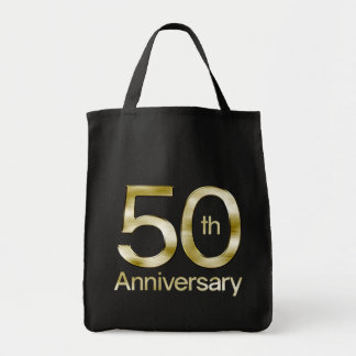 Aniversario atractivo del oro 50.o bolsa tela para la compra