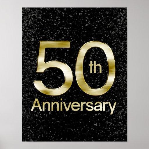 Aniversario atractivo del oro 50.o impresiones