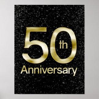 Aniversario atractivo del oro 50.o póster