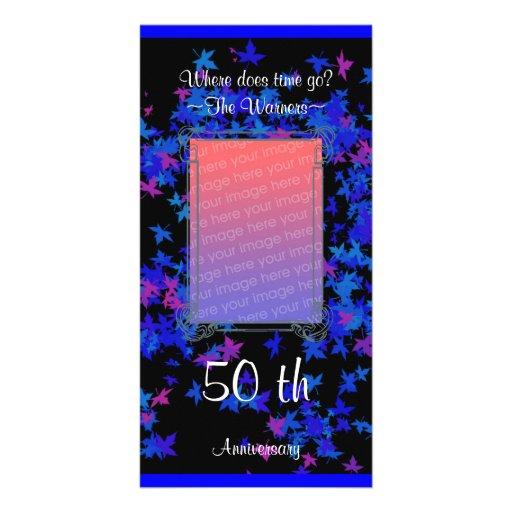 aniversario azul del arce tarjeta personal