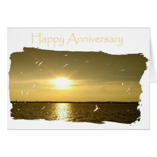 Aniversario brillante para el marido tarjeta de felicitación