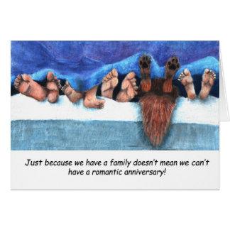 Aniversario con los niños tarjeta de felicitación