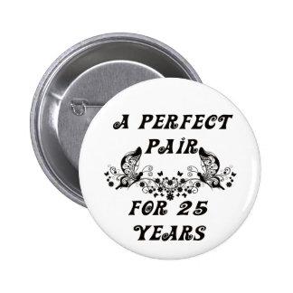 Aniversario de 25 años pin
