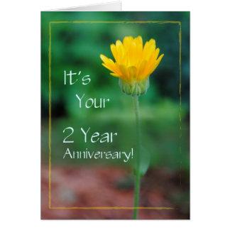 Aniversario de 2 años, recuperación del apego tarjeta de felicitación