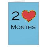Aniversario de 2 meses tarjetas