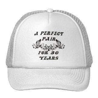 Aniversario de 30 años gorras