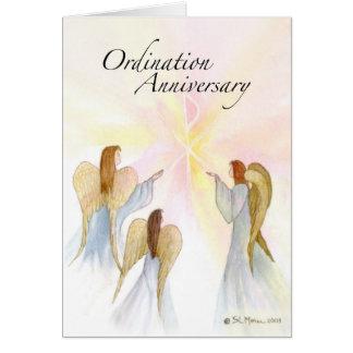 Aniversario de 3849 ordenaciones con ángeles tarjetón
