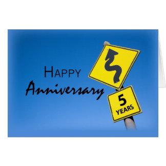 Aniversario de 3923 empleados, 5to año tarjeta de felicitación