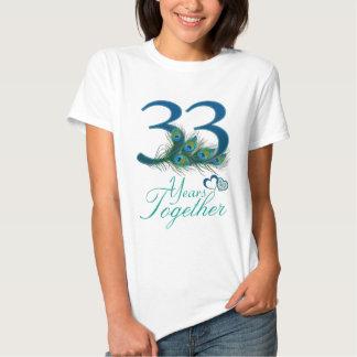 aniversario de boda/33/33ro/número 33 playera