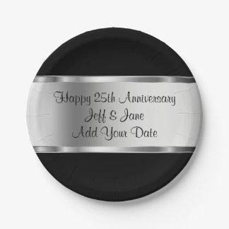 Aniversario de boda con clase plato de papel 17,78 cm
