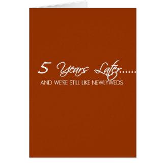 Aniversario de boda de 5 años tarjeta de felicitación