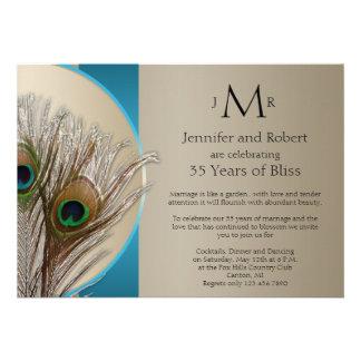 Aniversario de boda de color topo moderno del pavo