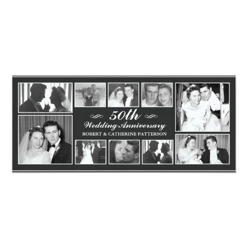 """Aniversario de boda de la celebración 50.a de la invitación 4"""" x 9.25"""""""