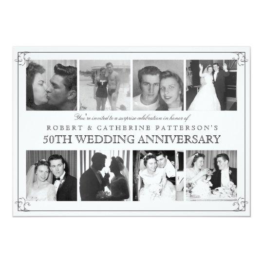 """Aniversario de boda de la celebración 50.a de la invitación 5"""" x 7"""""""