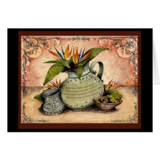 Aniversario de boda de la cerámica: tarjeta de felicitación