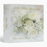 Aniversario de boda de los rosas blancos 50.os