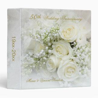"""Aniversario de boda de los rosas blancos 50.os carpeta 1 1/2"""""""