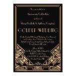 Aniversario de boda de oro de Gatsby del art déco Comunicado Personal