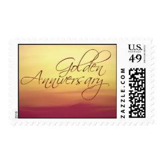 Aniversario de boda de oro franqueo