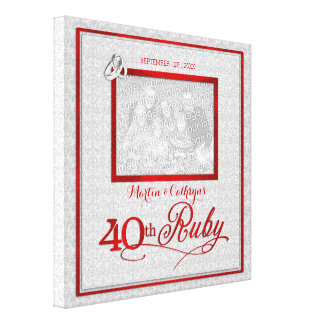 Aniversario de boda de rubíes - foto 11x11-inch impresión en lienzo estirada