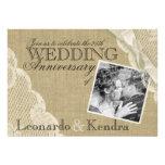 Aniversario de boda del cordón del vintage invitación
