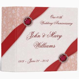 """Aniversario de boda del damasco 40.o 2"""" carpeta"""