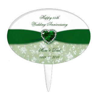 Aniversario de boda del damasco 55.o figura para tarta