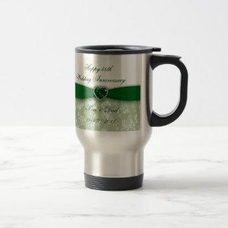 Aniversario de boda del damasco 55.o tazas de café