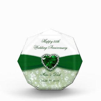 Aniversario de boda del damasco 55.o