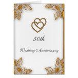 Aniversario de boda del oro blanco 50.o felicitaciones