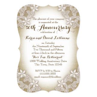 """Aniversario de boda del país 50.o de la herencia invitación 5"""" x 7"""""""