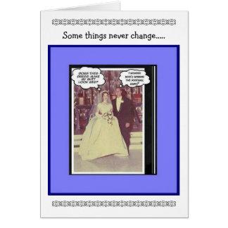 Aniversario de boda divertido - vintage tarjeta de felicitación