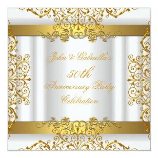 Aniversario de boda elegante del oro 50.o del oro anuncios personalizados