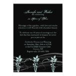 Aniversario de boda floral del ajuste del vintage anuncio personalizado