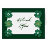 Aniversario de boda irlandés blanco verde tarjetas