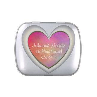Aniversario de boda rosado de la piedra preciosa d jarrones de dulces