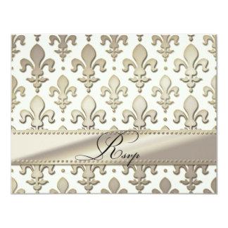 Aniversario de bodas de plata de RSVP, flor de lis Invitación 10,8 X 13,9 Cm