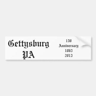 Aniversario de Gettysburg 150 Pegatina Para Auto
