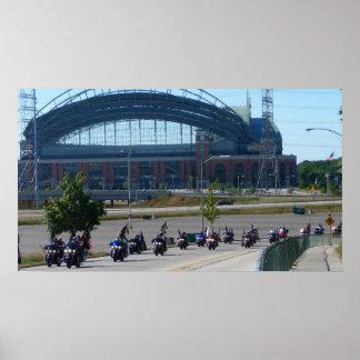 Aniversario de Harley Davidson 105 en Milwaukee Poster